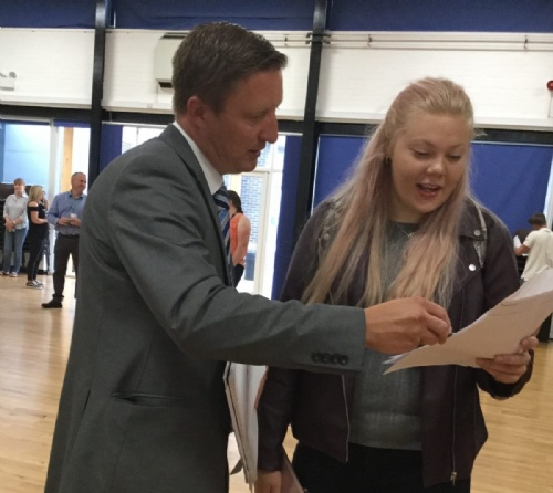 Students at Lodge Park Academy celebrate outstanding GCSE results